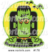 Clip Art of Cartoon Frankenstein by Andy Nortnik
