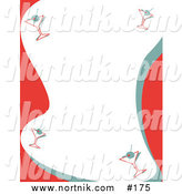 Clip Art of Christmas Party Martini Border by Andy Nortnik