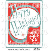 Clip Art of Happy Holidays Sign by Andy Nortnik