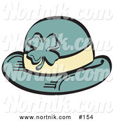 Clip Art of Leprechaun's Hat with Shamrock by Andy Nortnik