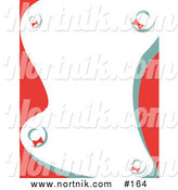 Clipart of Christmas Wreaths Background Border by Andy Nortnik