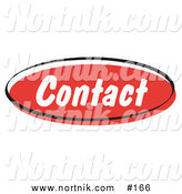 Clipart of Contact Web Button by Andy Nortnik