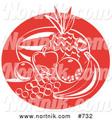 Clipart of Fruit in Retro Style by Andy Nortnik
