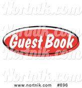 Clipart of Guest Book Web Button by Andy Nortnik