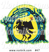 Clipart of Headless Horseman by Andy Nortnik