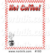 Clipart of Hot Coffee Restaurant Menu Border by Andy Nortnik