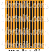 Clipart of Orange and Black Striped Background by Andy Nortnik