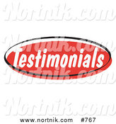 Clipart of Retro Testimonials Web Button by Andy Nortnik