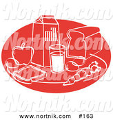 Food Groups or Food Pyramid Clipart by Andy Nortnik
