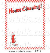 House Cleaning Border Background by Andy Nortnik