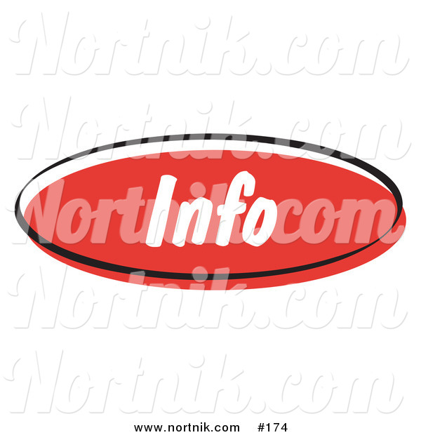Clip Art of Info Web Button
