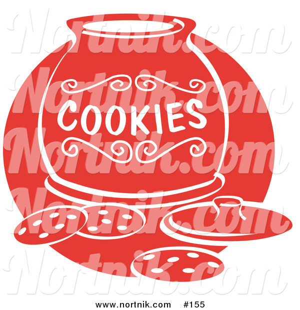 Clipart of Cookie Jar and Cookies