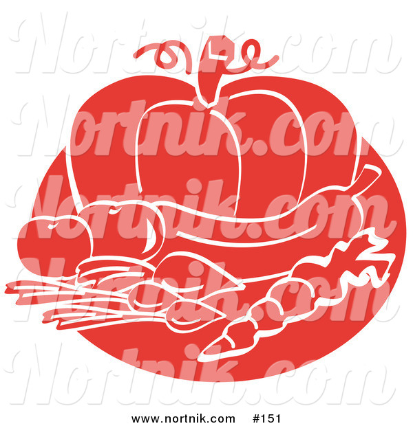 Clipart of Fruits and Vegetables