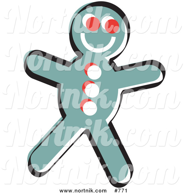 Clipart of Gingerbread Cookie