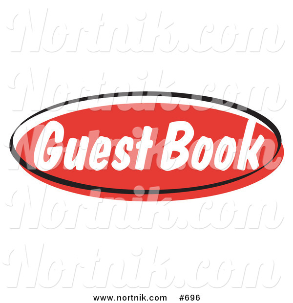 Clipart of Guest Book Web Button