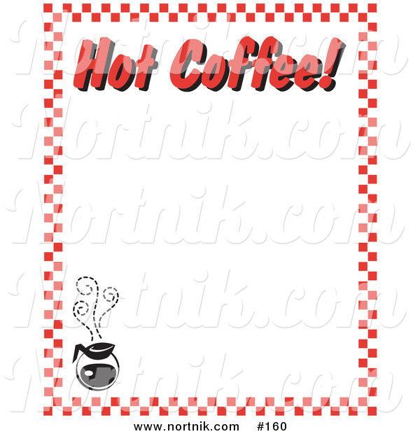Clipart of Hot Coffee Restaurant Menu Border