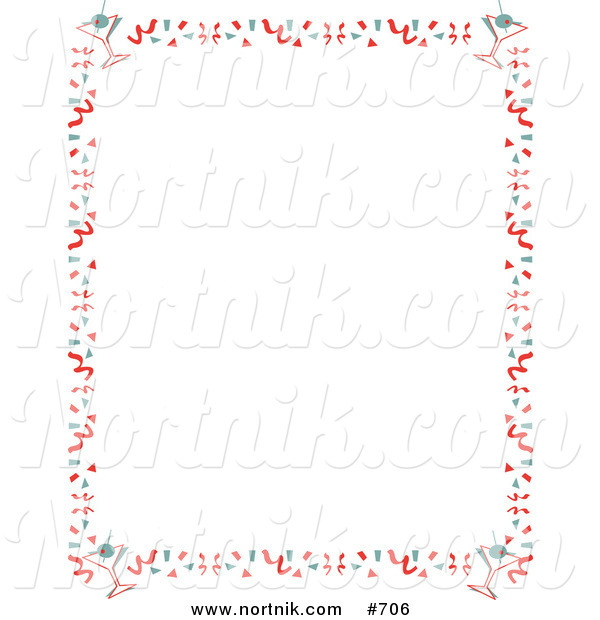 Clipart of New Years Eve Party Border