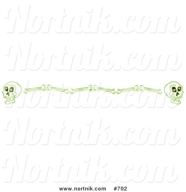 Clipart of Skull and Bones Border