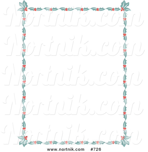 Holly and Berry Christmas Border