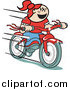 Clipart of Girl Riding a Bike by Andy Nortnik